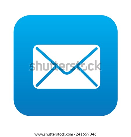 Email icon on blue background,clean vector - stock vector