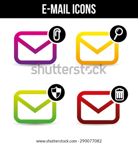 email icons design, vector illustration eps10 graphic  - stock vector