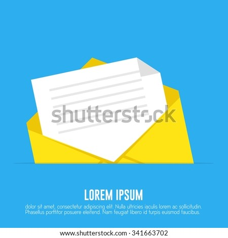 Email inbox - stock vector