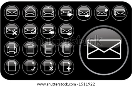 Email/Internet Icons (part 1) - stock vector