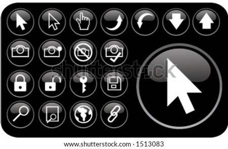 Email/ internet icons (part 3) - stock vector
