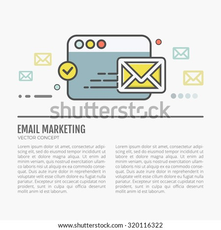 Flat design concept website template about 228095461 for Modern email design