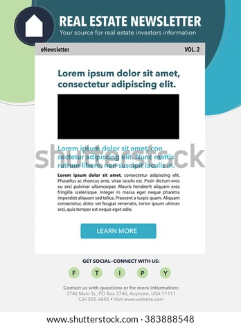 Email Marketing Newsletter Template With Real Estate Theme