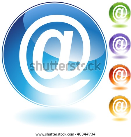 email symbol crystal icon isolated on a white background.