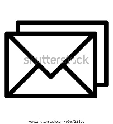 email vector icon stock vector 656722105 shutterstock rh shutterstock com phone email icons vector free mail vector icon