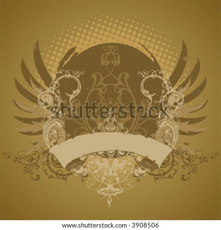Emblem, design element - stock vector