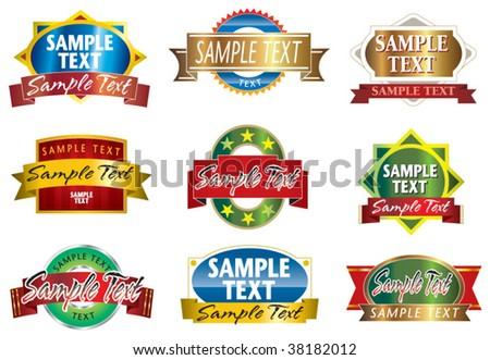 emblem label - stock vector