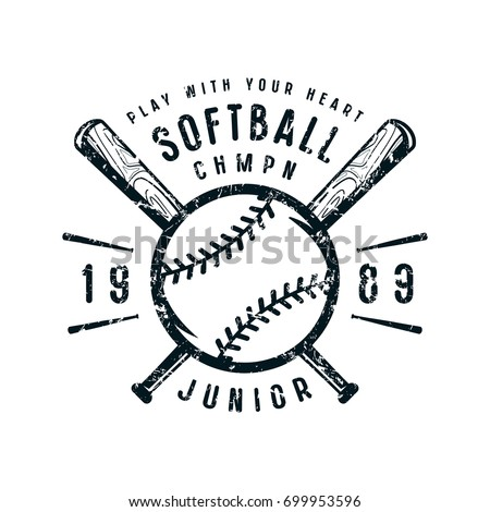Softball stock images royalty free images vectors for Softball logos for t shirts