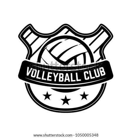 Emblem Template Volleyball Ball Isolated On Stock Vector HD (Royalty ...