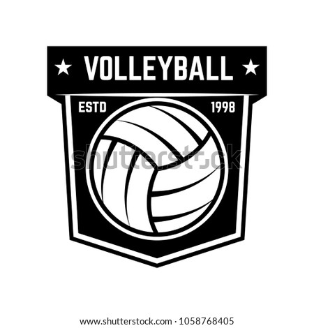 Emblem Template Volleyball Ball Isolated On Stock Vector 1058768405 ...