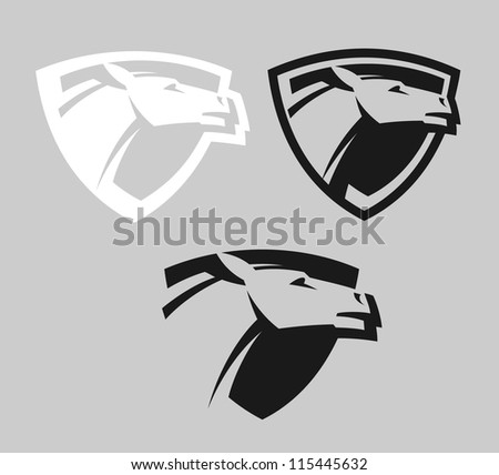 Emblem with a horse - stock vector