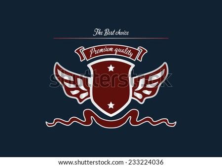 Emblem with vintage design elements - stock vector