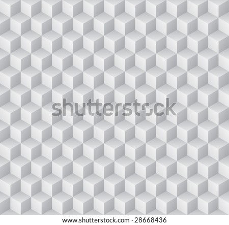 Embossed cuboids abstract background. (See more seamless backgrounds in my portfolio). - stock vector