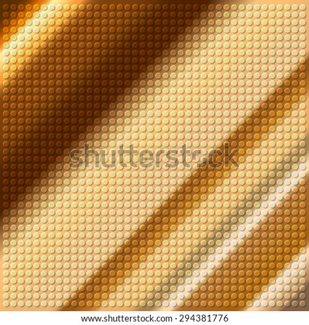 embossing metallic circle background in brown tone, illustration vector