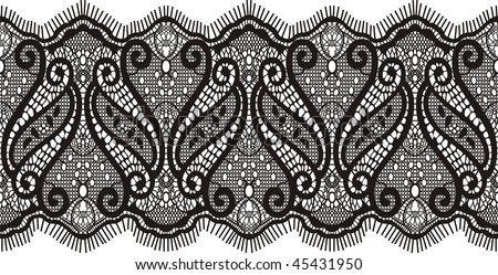 embroidered lace design in vector format very easy to edit, individual objects - stock vector