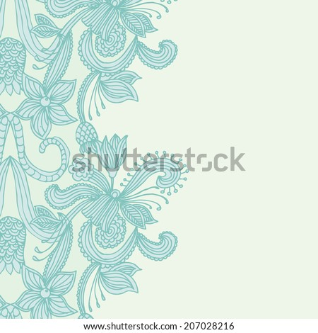 Embroidery pattern background  - stock vector