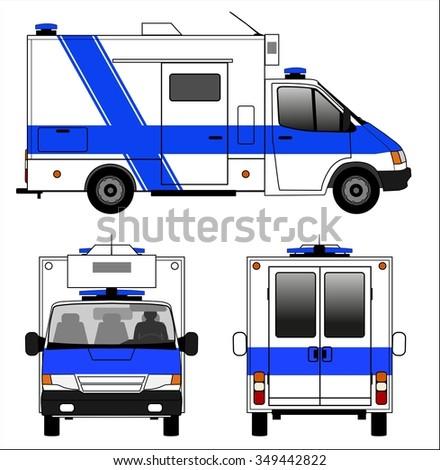 Emergency ambulance car - stock vector