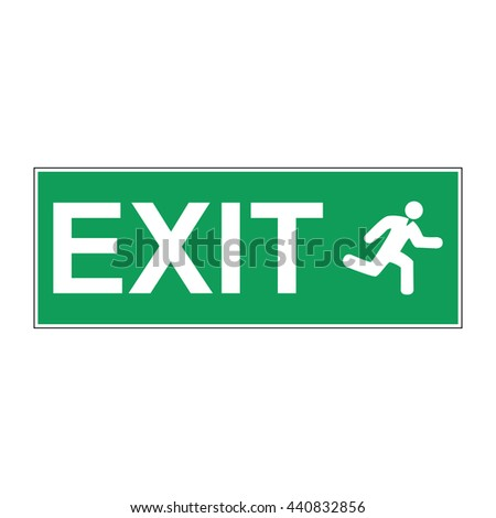 Emergency exit vector sign. Concept illustration for design. - stock vector