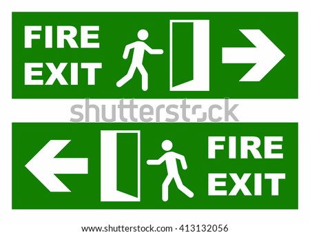 Emergency fire exit sign - stock vector
