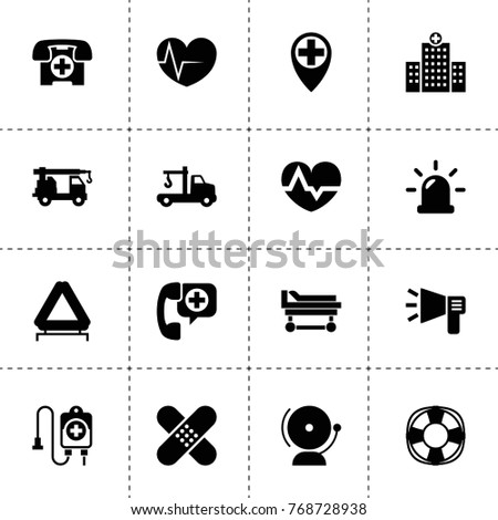 Emergency Icons Vector Collection Filled Emergency Stock Vector