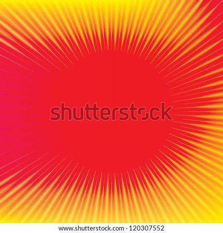 emission. red background eps10 - stock vector