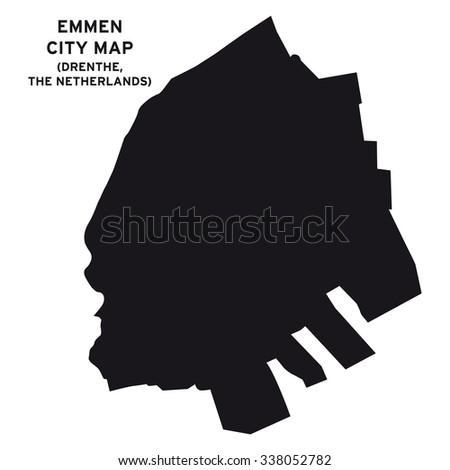 Emmen City Map Vector Stock Vector 338052782 Shutterstock