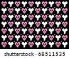 Emo gothic valentine wrapper - stock vector