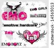 Emo logos 1. To see similar, please VISIT MY GALLERY.   - stock vector