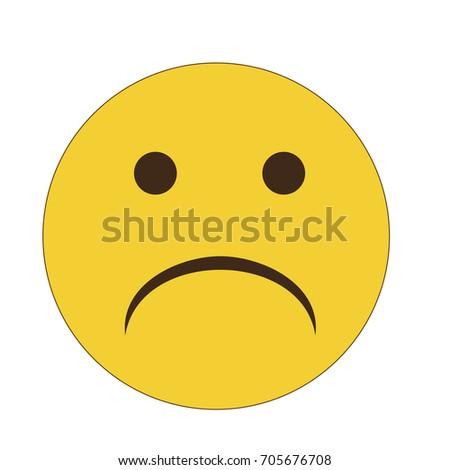 emoji emoticon vector sad face stock vector royalty free 705676708