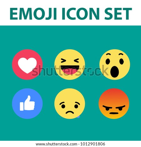 emoji icon set . vector illustration . emoji icon