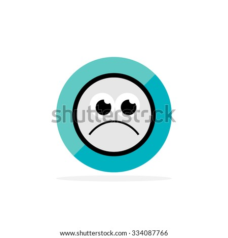 Emoticon. Flat Character Icon - stock vector