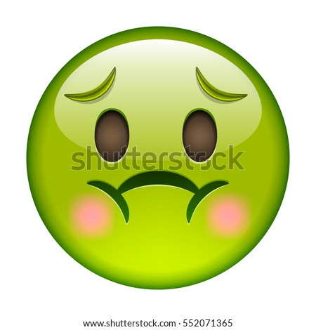 Emoticon nausea smile icon green emoji stock vector hd royalty free 552071365 shutterstock
