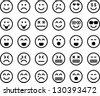 Emoticons - stock vector