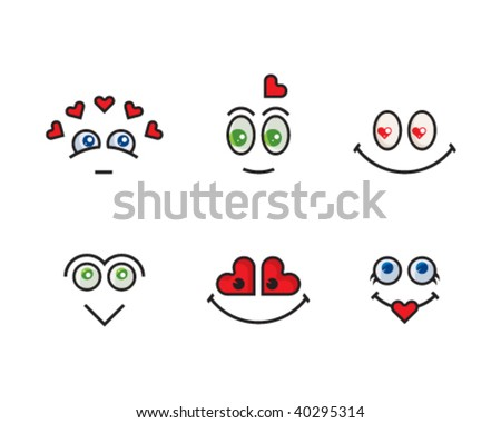 Emotional icons set #4 (love, romance) - stock vector