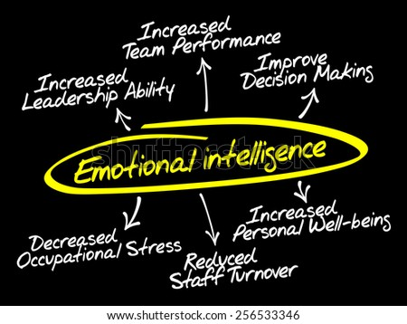 Emotional intelligence diagram, business concept - stock vector