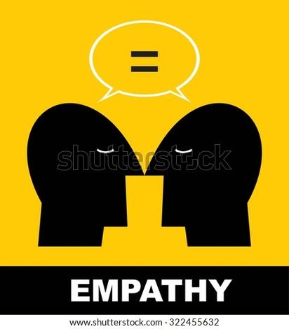 empathy icon - stock vector
