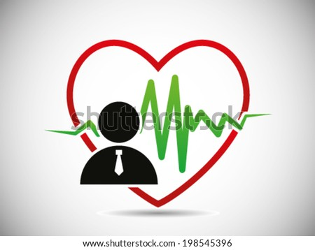 Employee Heart In Good Condition - stock vector