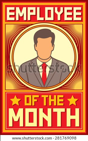 Employee month design stock vector royalty free for Employee of the month certificate template with picture