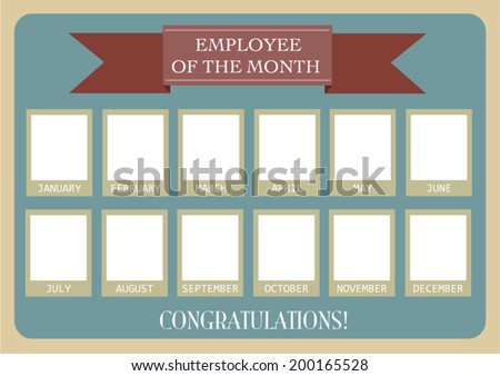 Employee Month Photo Calendar Vector Eps 10 Stock Vector ...