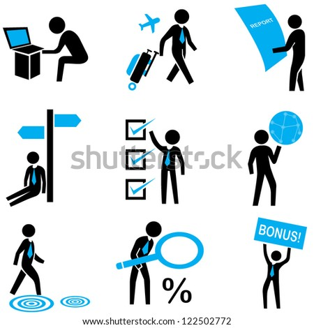 employer, business people, business management set - stock vector