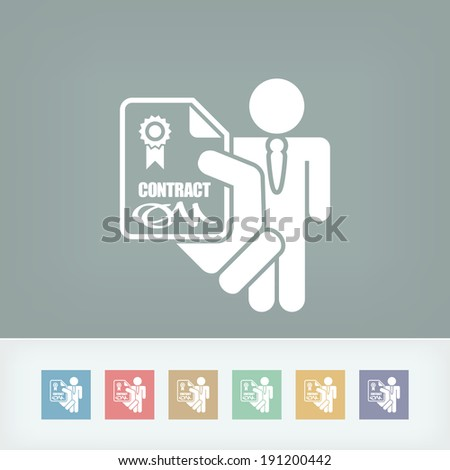 Employment contract - stock vector