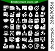 Employment icon set - stock vector