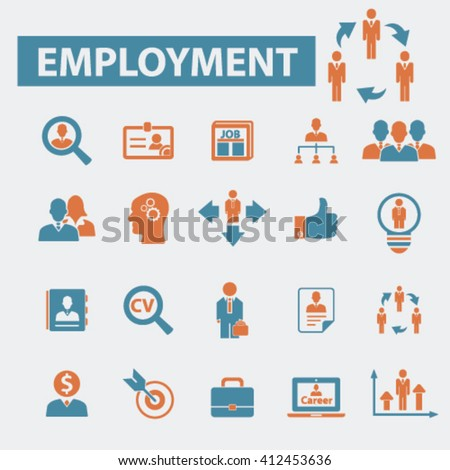 employment icons  - stock vector
