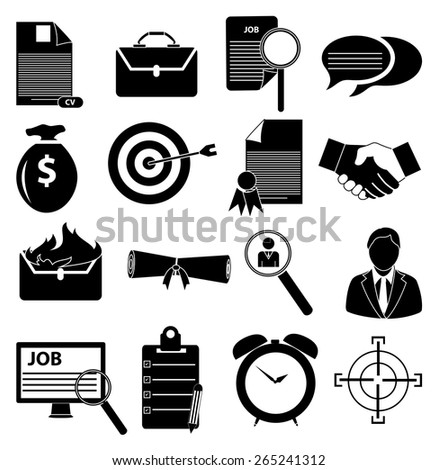 Employment icons set - stock vector
