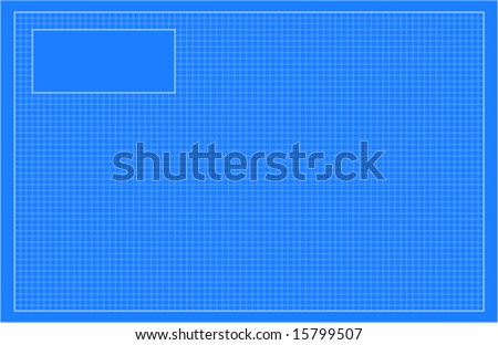 Empty architectural blueprint -vector - easily change colors - stock vector