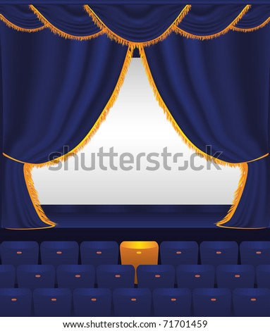 Empty auditorium - stock vector