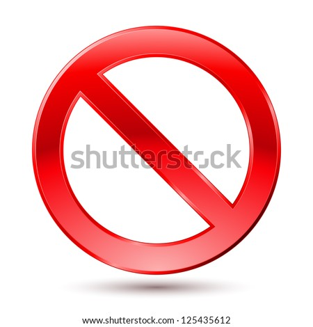 Empty Ban Sign. Illustration on white background - stock vector
