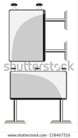Empty billboard - stock vector