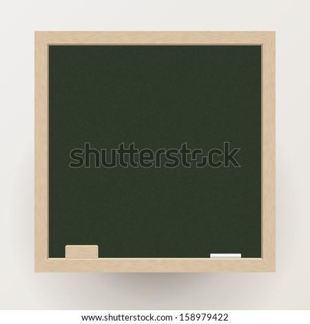 Empty Blackboard with Chalk - stock vector