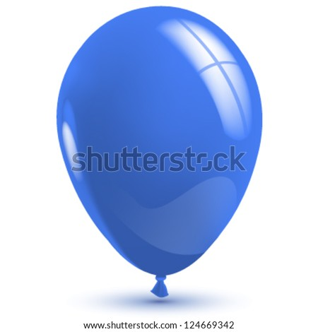 Empty blue balloon to place your concept. vector design - stock vector